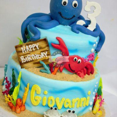 Octopus Underwater Celebration Cake