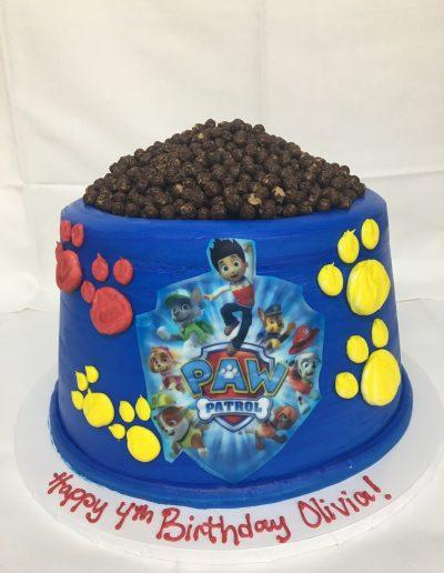 paw patrol, dog, bowl, cake, birthday, Jacksonville, Beach, Puppy, Pound, CInottis