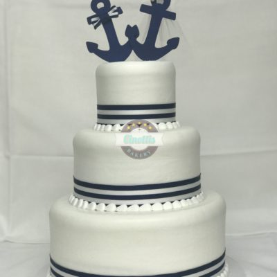 Anchored in Love, Wedding, Cake, Anchor, Nautical, Beach, Navy, Sailor, Baby, Shower, Cinottis, Bakery, Jacksonville, Beach