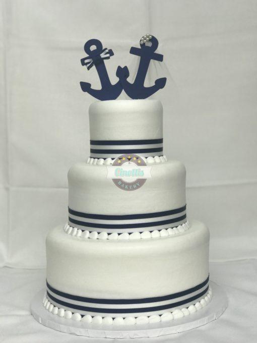 Anchored in Love, Wedding, Cake, Anchor, Nautical, Beach, Navy, Sailor, Baby, Shower, Cinottis, Bakery, Jacksonville, Beach