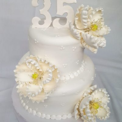 Swiss Dots, Cake, Flowers, Simple, Dots, Swiss, Peony, Elegant, Anniversary, Bridal, Shower, Birthday, Party, Jacksonville