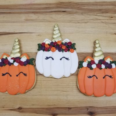 unicorn pumpkin, halloween, cookies, fun, party, ideas, cute, kitty, corn, candy, jacksonville, beach