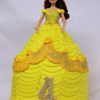Doll Cake, Belle, Beauty, beast, cake, kids, birthday, party, cinottis, bakery, fun, barbie, dress