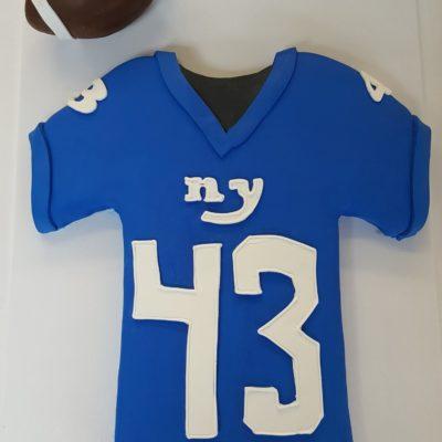 Football jersey, sports, NFL, SEC, ACC, bakery, jacksonville, beach, New, York, Giants, birthday
