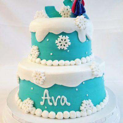 Frozen, Elsa, Anna, Cake, Ice, Birthday, Cinottis Bakery