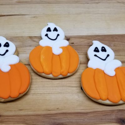 Ghostly Pumpkins, Halloween,Pumpkin, cookies, fall, rustic, party, favor, place, setting, patch, cinottis, bakery, jacksonville, beach - Copy