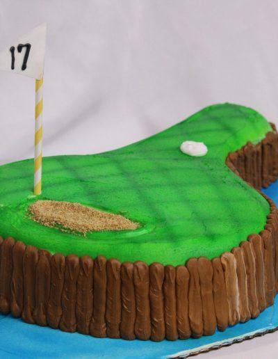 Seventeenth Green, theme, cake, TPC, Sawgrass, 17th, green, birthday, cake, adult, man, male, party, Jacksonville, Ponte, Vedra, Beach