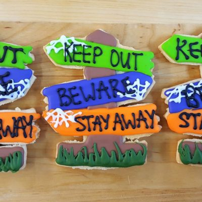 Haunted Halloween Sign, cookies, haunted, house, creepy, sign, party, favors, Jacksonville, Beach, Bakery, Cinottis