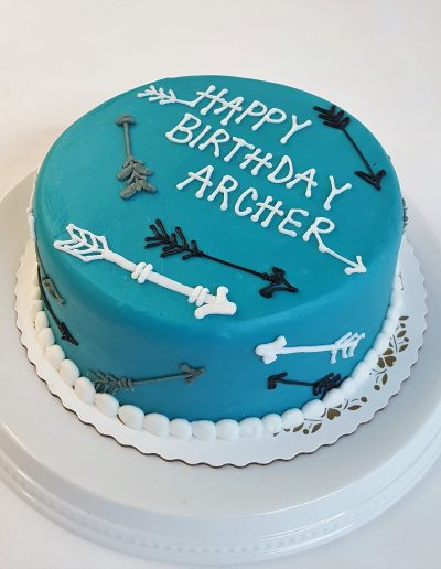 Teal Arrows, birthday, adult, woodsy, birthday, cake, party, jacksonville, beach
