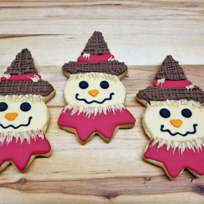Scarecrow, cookies, fall, rustic, party, favor, place, setting, patch, cinottis, bakery, jacksonville, beach