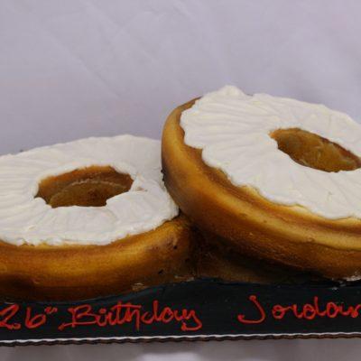 Cream Cheese bagel, cake, birthday, love, adult, kids, party, jacksonville, beach, bakery