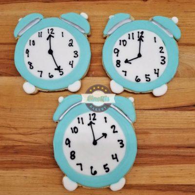 Alarm Clock Iced Cutout, Cookies, Cinottis Bakery, Alarm Clock