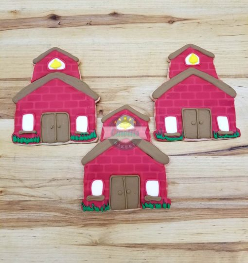 School House Iced Cutout, Cookies, Cinottis Bakery, School House