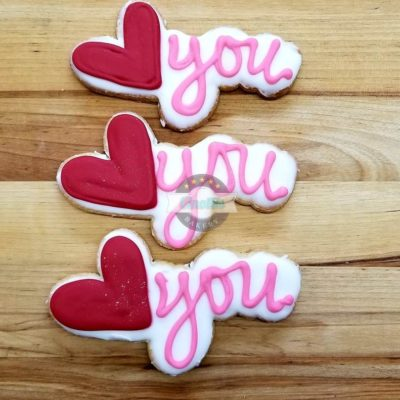Love You Iced Cutout, Cinottis Bakery, Cookies, Ja
