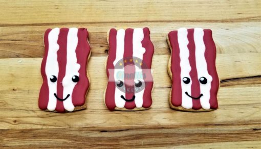 Bacon and Eggs Iced Cutout , Cookies, Valentines, Couples, Cinot