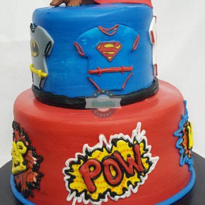 Comic Book Baby, Cake, Birthday, Comic, DC, Marvel, Spiderman, Batman, Superman, Cinottis Bakery