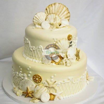 Seashells Wedding, Beach, Gold, Antique, Starfish, Sand, Cinottis, Bakery, Jacksonville, Beach