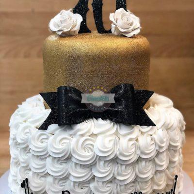 Seventy and Svelte, Adult Birthday, Gold and Black, Cinotti's Bakery, Jacksonville Beach