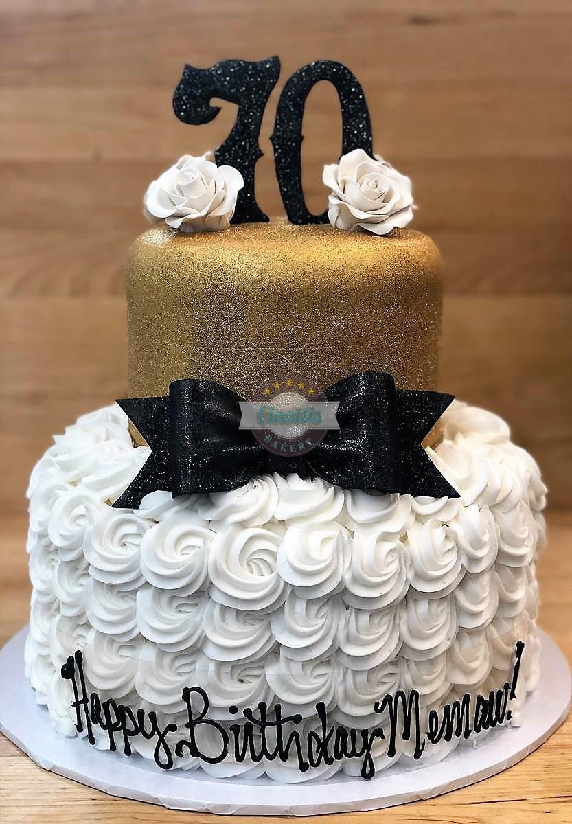 Seventy And Svelte Celebration Cake From Cinotti S Bakery