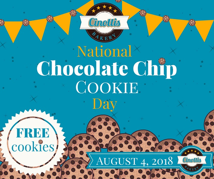 National Chocolate Chip Cookie Day-FREE Cookies!