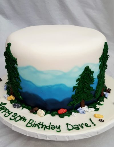 Mountain, Woodland, outdoors, Manly, Cake, blues, greens, rocks, woodsy, recreation, CInottis, Jacksonville, Beach