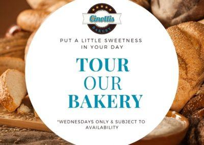 Bakery Tours, field trip ideas, cinottis bakery