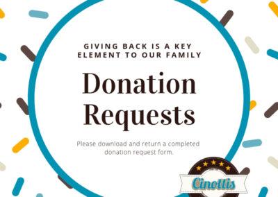 Donation from cinottis bakery, fundraising ideas, cinottis bakery, jacksonville beach