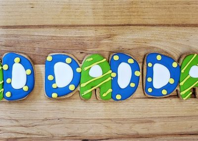 DAD cookies, best dad ever, father's day gift ideas, cookies for dad, cinottis bakery, jacksonville beach