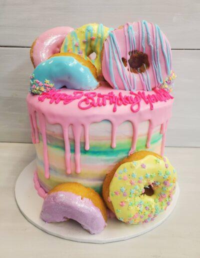 Bright Pastel Donut Drip