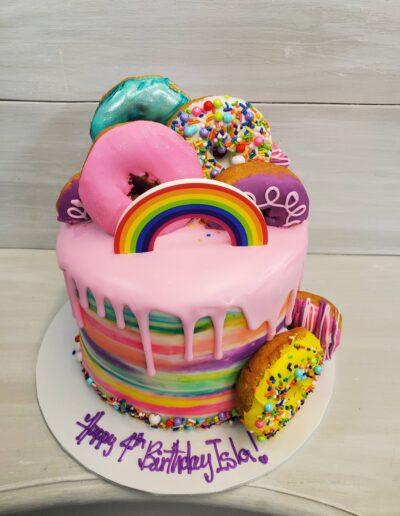 Rainbow Donut Drip
